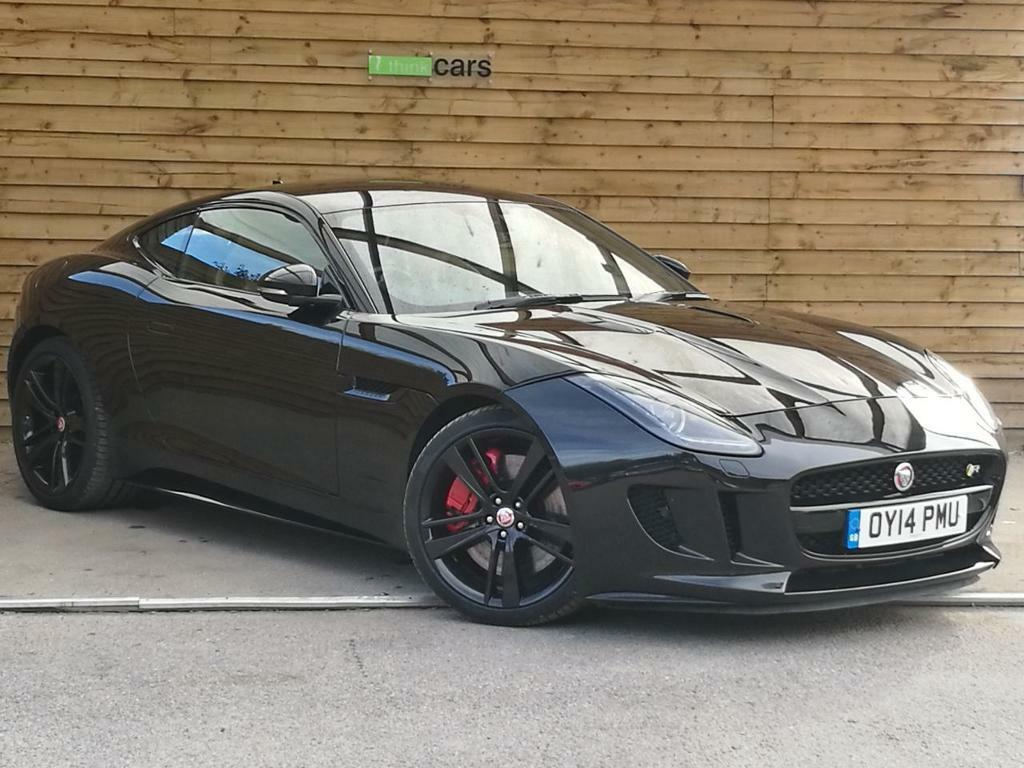 jaguar f type 5 0 supercharged v8 r 2dr auto stunning example ebony black 2014 in bransgore. Black Bedroom Furniture Sets. Home Design Ideas
