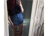 Women's denim/leather/tartan skirts size 12