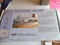 Wall mounted DVD player/sky box mount