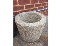 Extremely heavy concrete planter