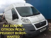 Wanted Peugeot boxer fiat ducato Citroen relay
