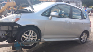 Parting out Honda fit