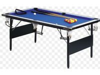 Snooker table including snooker/ pool balls and cues for sale