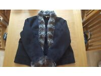 Suede and faux fur coat (16)