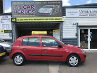 2004 RENAULT CLIO 1.2 16V (AC) EXPRESSION 5 DR H-BACK ONLY 33,000 MILES