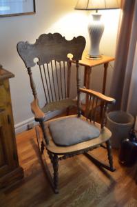 Beautiful Antique Oak Rocking Chair