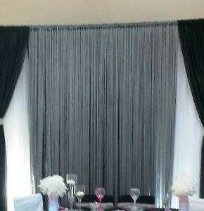 Wedding Decor - Silver Fringe String Curtain