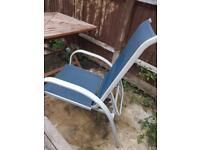 Set of 4 reclining garden chairs