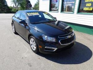 2015 Chevrolet Cruze 1LT only $135 bi-weekly! (9900kms!)
