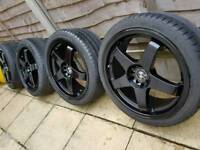 """18"""" bmw 5x120 rota alloy wheels with tyres"""