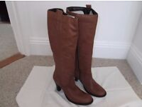 Full length ladies leather boots