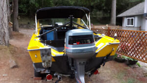 16 FT BOAT MOTOR AND TRAILER
