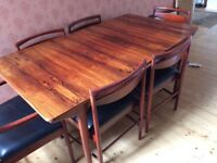 Rosewood table and chairs
