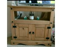 Corona solid pine wood tv stand