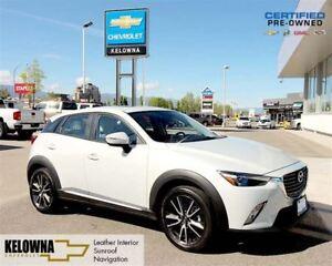 2016 Mazda CX-3 GT | Leather Interior | Sunroof | Navigation