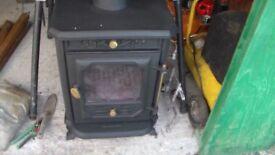Country Kilns wood burner/multi fuel fire. Black