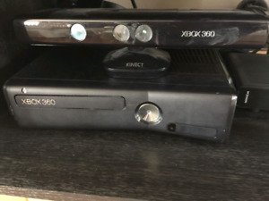 X box 360 with kinect and a lot of games and 2 controlers