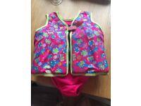 Speedo girls life jacket 4/5 years