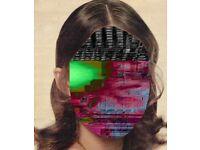 Glitch Art Canvas Woman's Face Digital Manipulation