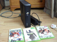 XBOX 360 , POWER PACK AND 3 GAMES . NOTHING ELSE INCLUDED