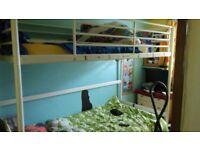 Metal tall single bunk bed