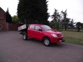 2008 58 TOYOTA HILUX CREW-CAB DOUBLE CAB 4X4 4WD TIPPER PICKUP # WINCH # AIRCON