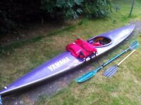 13ft Yamaha Canoe with accessories