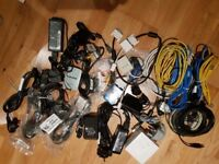 Assorted cables and power adaptors for sale