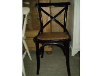 Belle Noire X Back Dining Chair