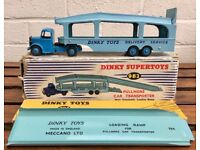 DINKY SUPERTOYS- PULLMORE CAR TRANSPORTER 982 & LOADING RAMP 794 CARRIER LORRY -BOXED-