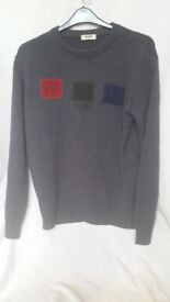Moschino Jeans Men's Jumper in Grey Size L