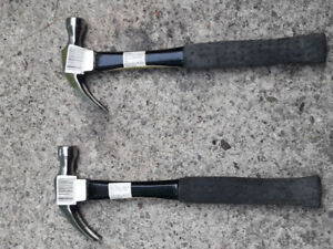 two brand new small craftsman claw hammers