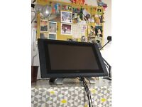 2 year old Wacom Cintiq 22HD touch Creative Pen Display with pen, spare nibs and all power leads