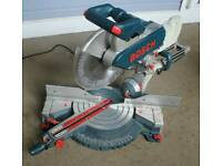 Bosch 110v double bevel Chop saw & stand