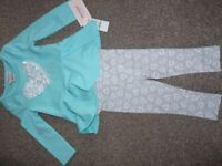 Juicy coutour 18month girls clothes set. (top and leggins)