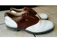 Golf shoes size 8 and trousers