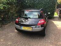 Black Renault Megane low mileage 57 plate automatic