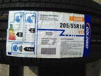 GOLDWAY New / Unused 205/55R16 Car Tyre. 74dB