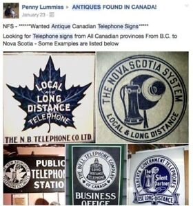 Antique \ Vintage - Canadian Telephone Signs