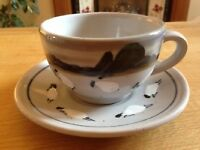 Highland Stoneware Large Cup and Saucer