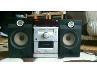 LG CD, Radio, cassette mini Hi-fi system