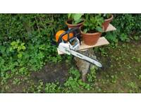 Stihl ms chainsaw in brill condition 2 years old