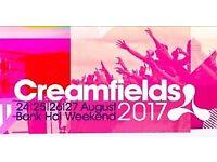 Creamfields 2017 Sat-Sun 2 Day Standard Camping Pass