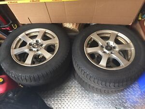Aluminum rims and winter tires VW Tiguan