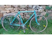 Vtg Retro French Blue Peugeot Men's Road Racing Bike Bicycle Cycle