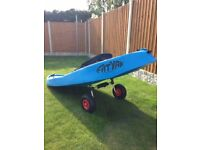 Fatyak Surf Sit On Kayak, trolley back rest and paddle