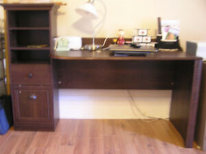 Bush Barton Desk in Bing Cherry