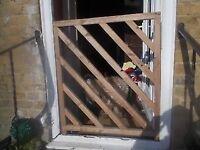 WOODEN GARDEN GATE / SAFETY GATE ** 96cm HIGH x 85cm WIDE ** clacton on sea - CO15