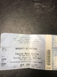 Naughty By Nature ticket