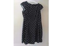 Womens black polka dot Wallis Summer Dress